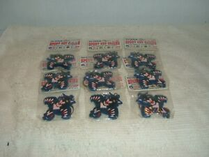 """FLORIDA PANTHERS RUBBERIZED DIE CUT 2"""" FIRST LOGO  KEY CHAIN SET OF  9 .NEW NHL"""