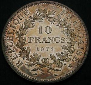 FRANCE 10 Francs 1971 - Silver - aUNC - 1495