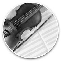 2 x Vinyl Stickers 7.5cm (bw) - Classical Violin Music Cool  #38593