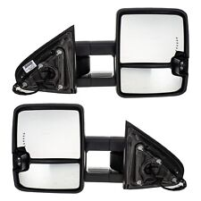 OEM NEW Power Heated Trailering Tow Mirrors 14-19 Silverado Sierra 23372182