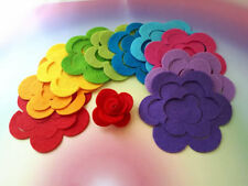 3d Felt Roses (10 large), Roll Your Own Rainbow Flowers, Craft Embellishments