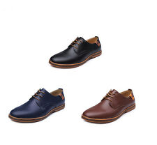 Men's oxfords Leather Shoes Business Casual British style Dress Formal Lace Up