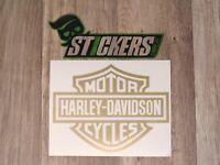 Harley-Davidson Gold Aufkleber Sticker Shocker OEM Tuning JDM Oldschool