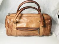 Force Ten Classic Western Hand Tooled Luxurious Leather Convertible Satchel Bag