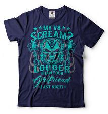 Car Enthusiast V8 engine T-shirt Car Lover Muscle car Engine Rev Girlfriend Tee