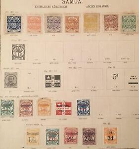 Samoa 🇼🇸 Ehemaliges Königreich Konvolut Lot Uralte Briefmarken, aus Nachlass