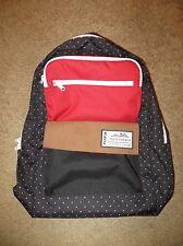 KAVU RAILSLIDE URBA BLACK RED DOT BACKPACK BOOK BAG HIKING CAMP PACK PURSE NWT