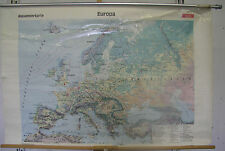 Schulwandkarte Wall Map Europa Europe Europakarte 1989 137x90 School Map Map