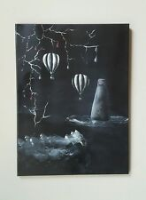 Apocalyptic Landing, Original, acrylic, 2000-Now, Signed, Surrealism, Fantasy