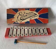 More details for vintage boxed glockenspiel [xylophone] metallophon mit 10 stimmer - 10 bars