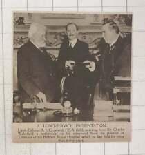 1920 Lieutenant-colonel Aj Copeland Long Time Treasurer Bethlem Royal Hospital