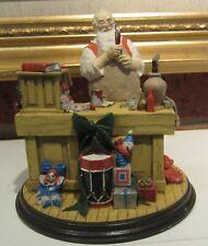 Norman Rockwell's Heirloom Collection - 1990 Santa's Workshop Needs Tiny Bit Tlc