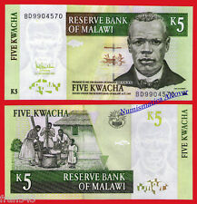 MALAWI 5 Kwacha 2005 Pick 36 c  SC / UNC