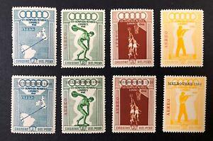 Peru #C78-81 & Set w/Overprint 1948 MNH