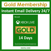 Xbox Live 14 Day Gold Trial Membership Code - 2 Weeks - Xbox One - Instant 24/7