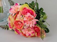Formano Kunstblume Rosenstrauß rosa 30 Cm
