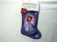 Disney Sofia Princess in Training Purple 20 inch Christmas Holiday Stocking
