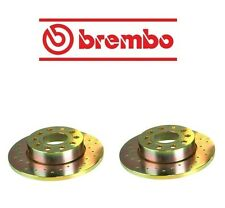 For Audi A3 Jetta Set of 2 Rear Brake Disc Rotors Cross Drilled Brembo 33S50209