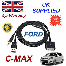 FORD CMAX 1529487 3GS 4 4S iPhone iPod USB & AUX Cavo Nero