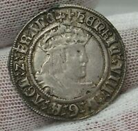 Henry VIII Groat - London Mint. Silver Groat, second coinage (1509-1526).