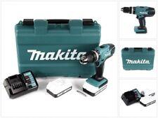 Makita HP 457 DWE RYJ 18 V Schlagbohrschrauber + Koffer + 2x 1,5 Ah Akku + Lader