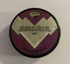Vintage Monogram Underwood Corporation Typewriter Ribbon Metal Tin
