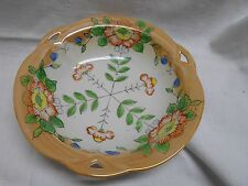 vintage decorative Japan bowl oriental poppies ? floral orange lustre ware