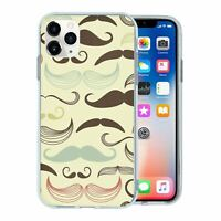 For Apple iPhone 11 PRO MAX Silicone Case Moustache Pattern - S308
