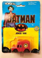 1989 ERTL Batman JOKER VAN Jokermobile Diecast Model Car on Original Card -Taped