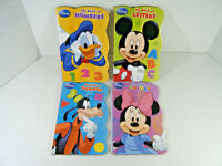 Lot of 4 Disney Board Books Educational Mickey Minny Mouse Donald Duck Counting