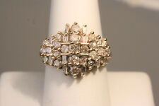 1.50 TCW Beautiful Ladies' Diamond Cluster Ring in 10K Gold ! Great Sparkle !