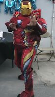 Used Civil War Iron Man Costume Padded Jumpsuit Xl Missing Mask