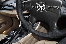 Para Subaru Forester II Cuero Perforado Volante Cubierta 02+ doble puntada