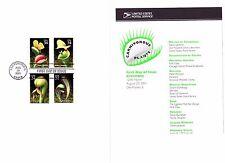 USPS 1st Day of Issue Ceremony Program #3528-31 Carnivorous Plants FDOI 2001