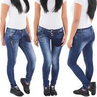 SOTALA Damen Jeans Röhrenjeans Skinny Slim Fit Stretch Hüft Hose Röhre Jeanshose