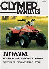 CLYMER MANUAL HONDA ATC200X 1986-1987, FOURTRAX 200SX & TRX200SX 1986-1988
