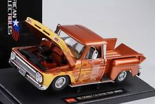 Chevrolet C-10 Stepside Pick-Up Lowrider 1965 metallico arancione 1:18 SUN STAR