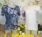 "Lot vêtements occasion femme... Teeshirt "" M&S - 64 "" ... T : 38 / 40"