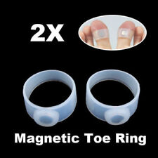 2pcs Slimming Lose Weight Care Tool Silicone Magnetic Massage Foot Toe Rings