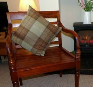 Scatter Cushion Tartan Wool Blend Check With Feather Filling - SN 1401A