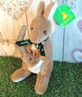 Australian Toy Gift Souvenir ~ Kangaroo w Joey in Pouch Soft Plush ~ Boomerang