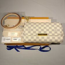 New Louis Vuitton Favorite MM Damier Azur Pochette Clutch Purse Bag 2020 N41275