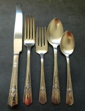 HARMONY HOUSE SILVERPLATE MAYTIME 5 PIECE PLACE SETTING