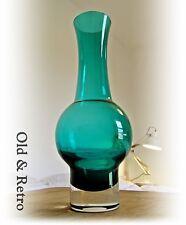 Riihimaki/Riihimaen Lasi Aimo Okkolin Glass Vase vintage retro Scandinavian