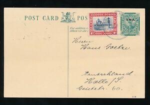 SOUTH WEST AFRICA 1938 SPRINGBOK STATIONERY SWA + 1d...OKOMBAHE in GREY BLUE
