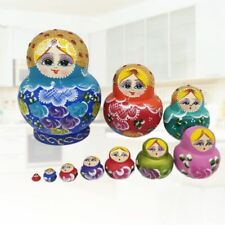 10 Pcs Cute Nesting Dolls Big Belly Girl Russian Stacking Dolls Collection Toy