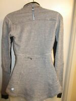 Lululemon 4 Base Runner 1/2 Half Zip Long Sleeve Top Pullover Herringbone Black