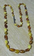"Beautiful Multi-Coloured Amber 24"" Necklace"