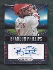 2014 Prizm autographed signed baseball card Brandon Phillips, Cincinnati Reds
