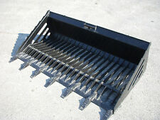 "Bobcat Skid Steer Attachment - 72"" Rock Skeleton Bucket with Teeth - Ship $149"